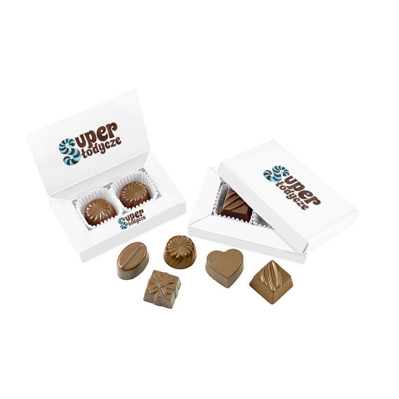 Perfekcyjnie przygotowane czekoladki reklamowe